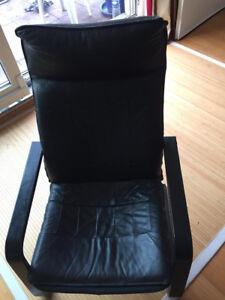 Ikea Poang Sessel Leder Schwarz Sehr Guter Zustand In Ffm Ebay