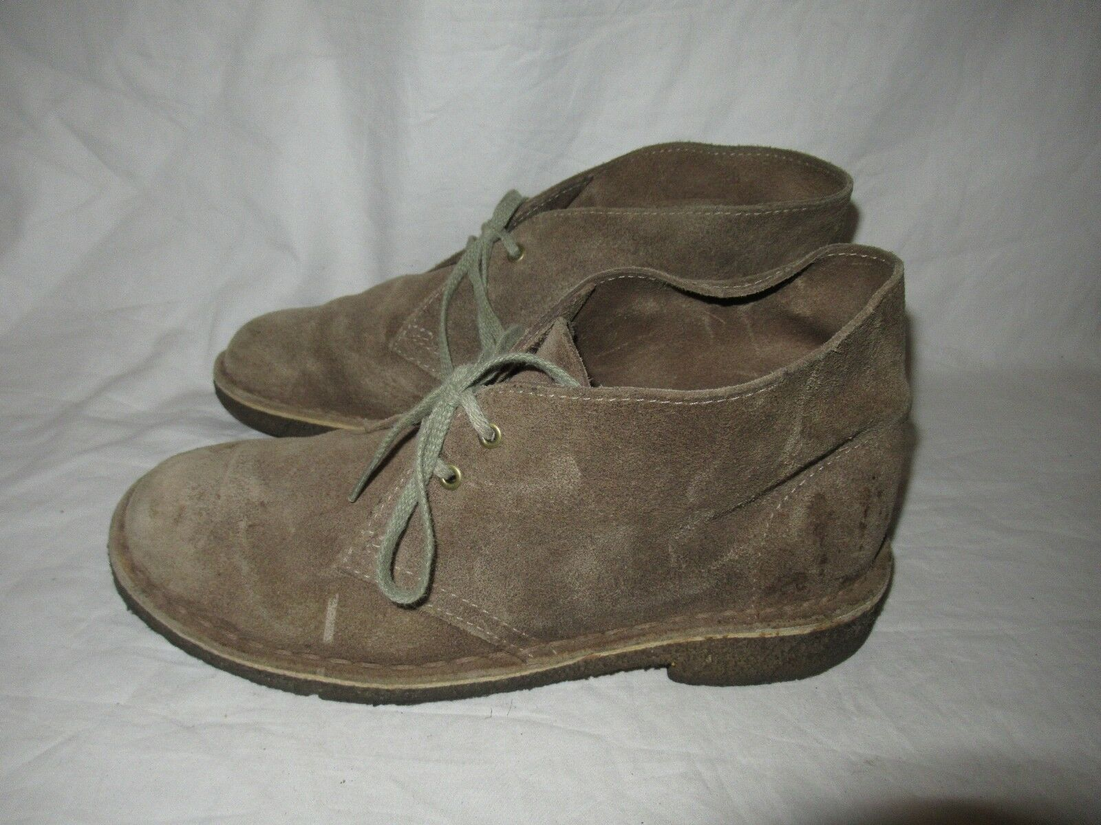 Clarks womens boots ankle Chukka Desert leather brown size 7.5 Good Shape