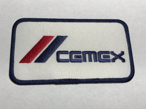 Cemex Building Materials Company Cement Concrete Mexico Embroidered Sew Patch G