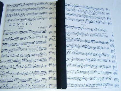 Klemmbinder A4 30mm Füllh Motiv Musiknoten Handarbeit