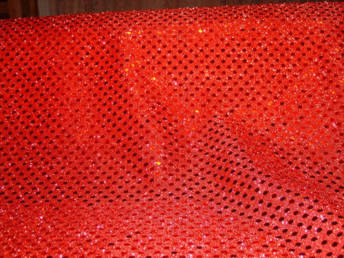 Red Sequined fabric  5 yards in length 8493