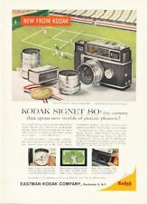 1958 Kodak Signet 80 Camera Tennis at Forest Hills Court PRINT AD