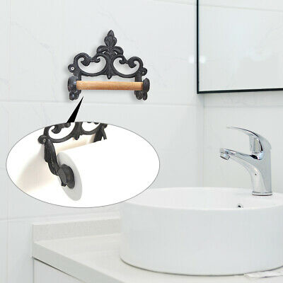 CAST IRON VINTAGE ROUND TOWEL RING HOLDER WALL MOUNT MOUNTED KITCHEN BATHROOM