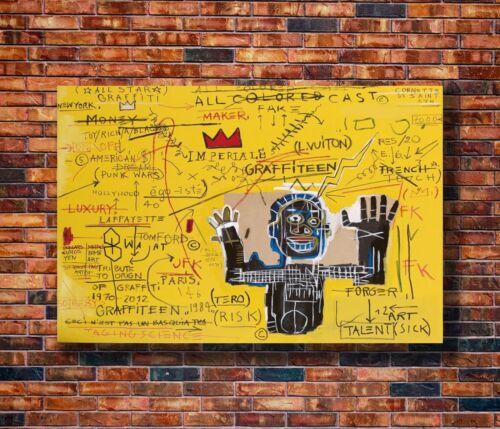 T1488 20x30 24x36 Silk Poster Jean Basquiat Untitled Art Michel Print