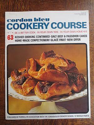 Vintage CORDON BLEU Cookery Course Magazine 63 Kosher Cooking Jewish Recipes