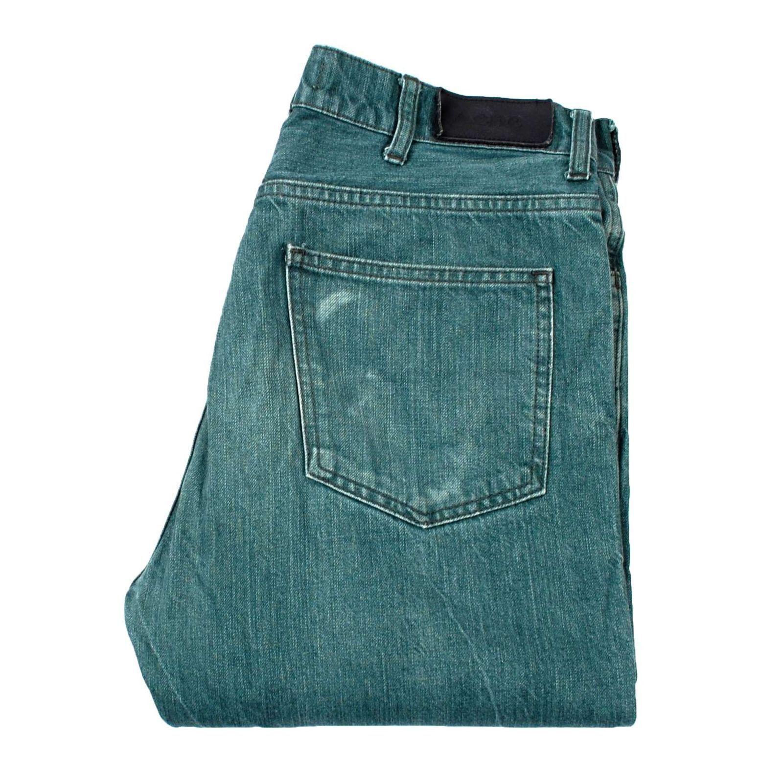 Acne Röhrenartig Raw E Enge Passform Grün Herren Jeans Größe 48    Haltbarkeit    Verschiedene Stile und Stile    Niedriger Preis und gute Qualität