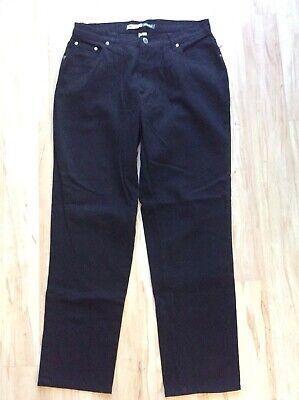 New Women S St John S Bay Black Jeans Tapered Denim Pants Size 12p 12 Petite Ebay