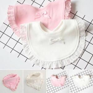 Newborn Towel Toddler Infant Baby Boy Girl Kids Bibs Saliva Bowknot Lace Towel
