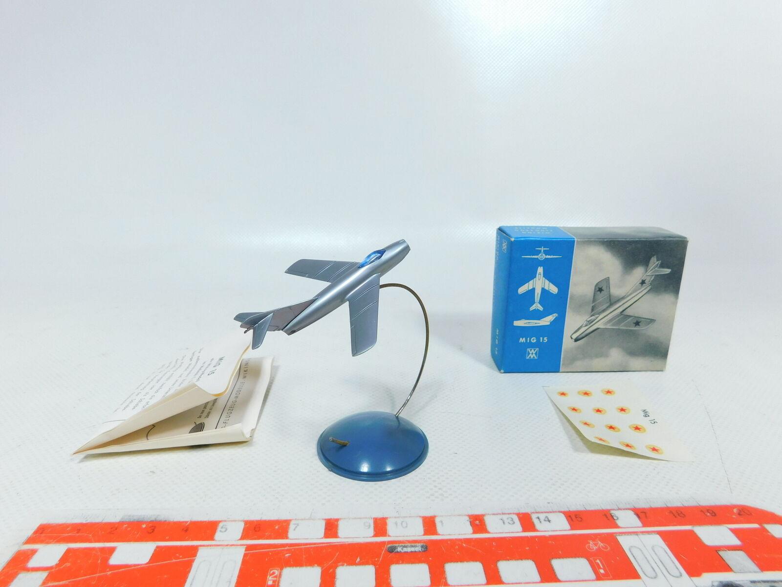 Bx420-0, 5  Wiking 1 200 avion chasseur BOMBARDIER MIG 15, très bien + neuf dans sa boîte