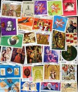 EQUATEUR-ECUADOR-collections-de-25-a-1000-timbres-differents