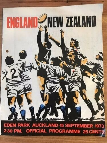 Rugby Programme England vs New Zealand 15091973 FREE DELIVERY
