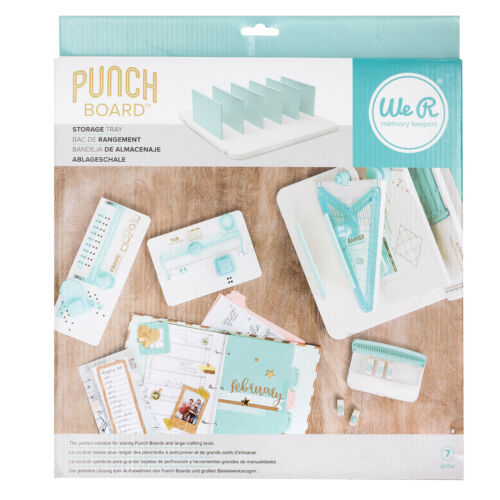 7 pièces American Crafts We R Memory Keepers Punch Board et outil de stockage plateau