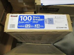 100A Murray LC1224B1100 Load Center 12 Space 24 Circuit Main Breaker