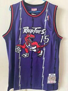Canotta-nba-basket-maglia-Vince-Carter-jersey-Toronto-Raptors-S-M-L-XL-XXL