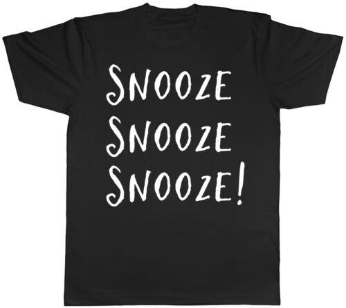 Snooze Snooze Snooze T-shirt homme fatigué sommeil paresseux Drôle Slogan anniversaire Tee