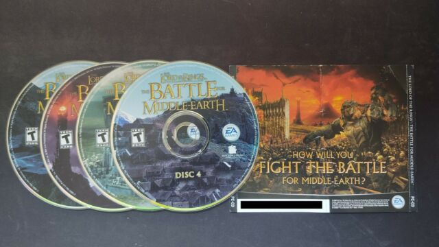 The Lord of the Rings The Battle for Middle-Earth PC (2004) 4 CD & Key