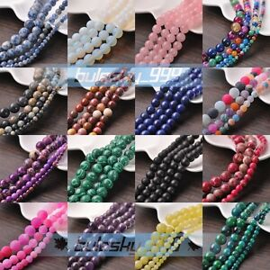 Wholesale-Natural-Gemstone-Stone-Round-Loose-Spacer-Beads-4mm-6mm-8mm-10mm-Lots