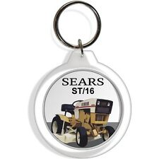 Sears Craftsman Lawn Riding Mower Green White Keychain Ignition Key ring FOB