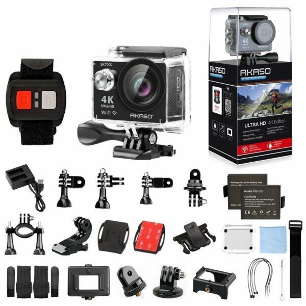 4k Sport Go Pro Caméra D'action Hd Ultra Fun 12mp Wifi étanche Télécommande ChronoméTrage Ponctuel