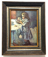 Le Gourmet 1901 Pablo Picasso -Chester Dale Collection Print on Wood Framed VGC