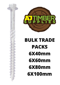 BULK TRADE PACKS TIMCO HEX HEAD INDEX HEAVY DUTY EXTERIOR TIMBER WOOD SCREW