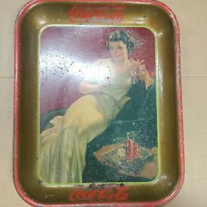 1936 Coca-Cola serving tray with reclining lady
