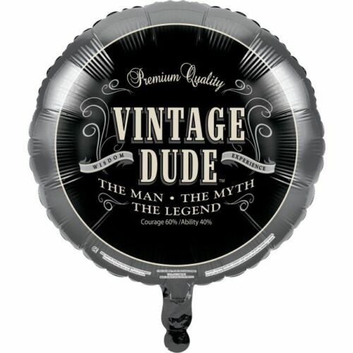 Vintage Dude Foil Balloon The Man Myth Legend Birthday Party Decorations