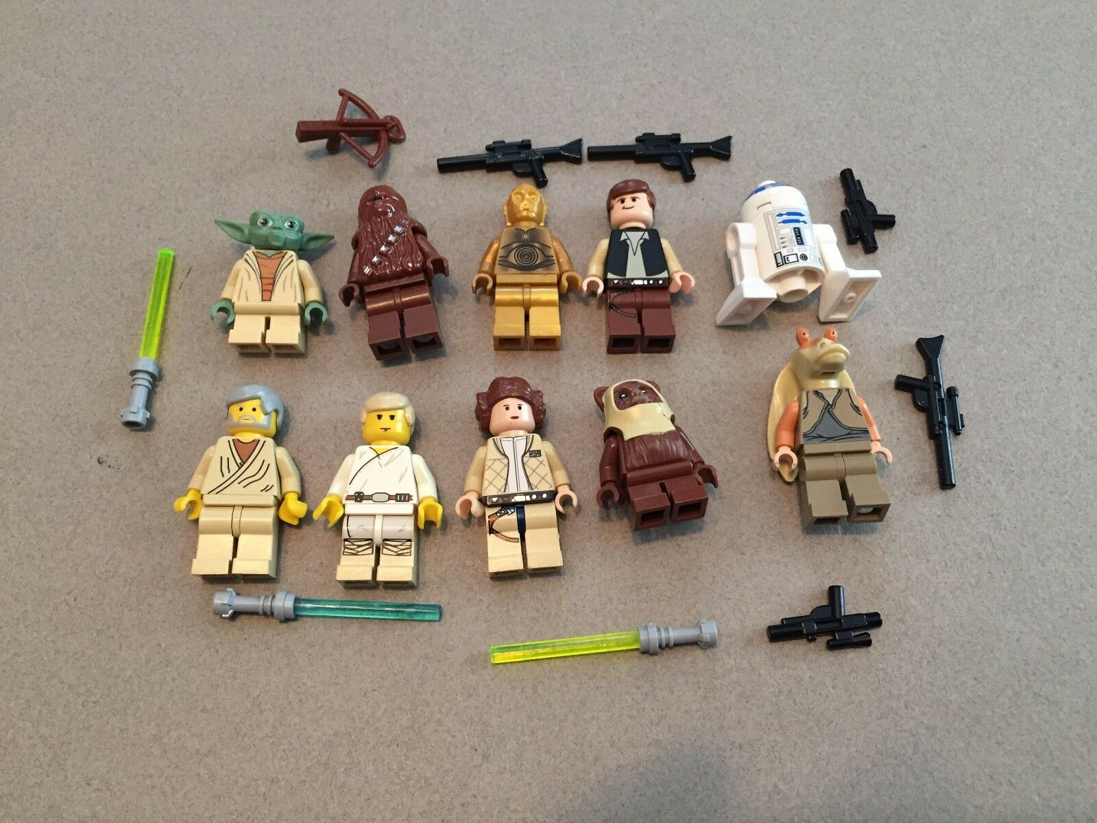 senza esitazione! acquista ora! LEGO lot of 10 Estrella Guerras Good Guy Minifigs Yoda Yoda Yoda Luke Leia Han R2-D2 Chewie K306  economico e alla moda