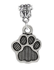 Dog Paw Print Pet Animal Puppy Footprint Dangle Charm for European Bead Bracelet
