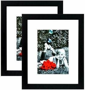 11x13-Picture-Frame-Black-2-Pack-HIGH-Definition-Glass-Front-Cover-w-8x10-Mat