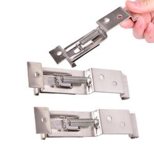 1pair Car License Plate Frame Holder Trailer Number Plate Clips Spring Load MB