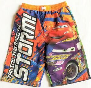 NWT DISNEY CARS SWIM TRUNKS BOYS SIZE MED 7//8  *SUPER CUTE!
