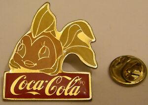 DISNEY-COCA-COLA-CLEO-PINOCCHIO-vintage-pin-badge
