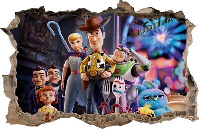 WALL STICKERS Hole in the wall TOY STORY 4 Sticker Vinyl Decal Decor Mural 78