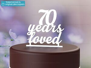 Image Is Loading 034 70 Years Loved White 70th Birthday