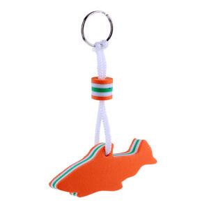 Anchor Shaped Boating Keyring Floating Key Ring Marine Sailing Float Orange