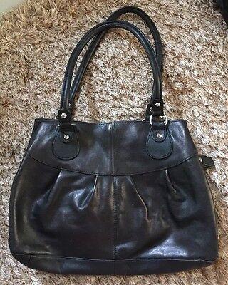 Damen Tasche Leder Schwarz