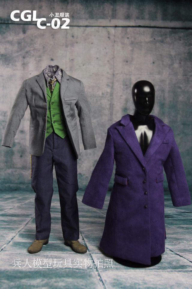 1 6 CGL C-02 Batman Joker 2.0 Disfraz Ropa Traje Conjunto F12  modelo de cuerpo figura