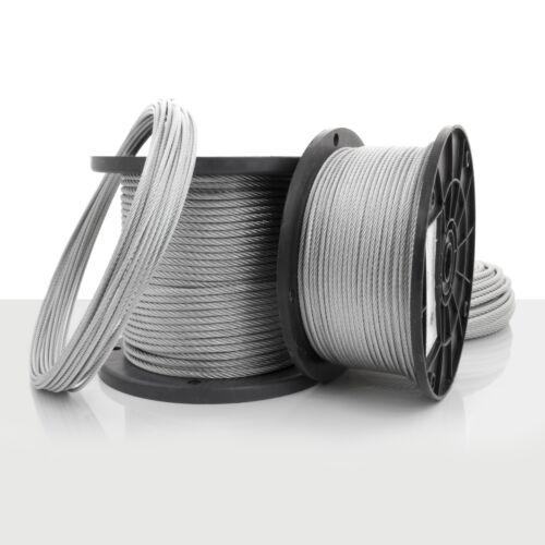 STAHLSEIL 4mm verzinkt Drahtseile Stahlseile Seile Drahtseile nach DIN EN 12385