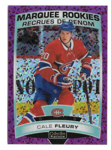 2019-20 Cale Fleury O-Pee-Chee OPC Platinum Violet Pixels Marquee Rookie 329/399