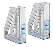 Acrimet Magazine File Holder Crystal Color 2 Pack