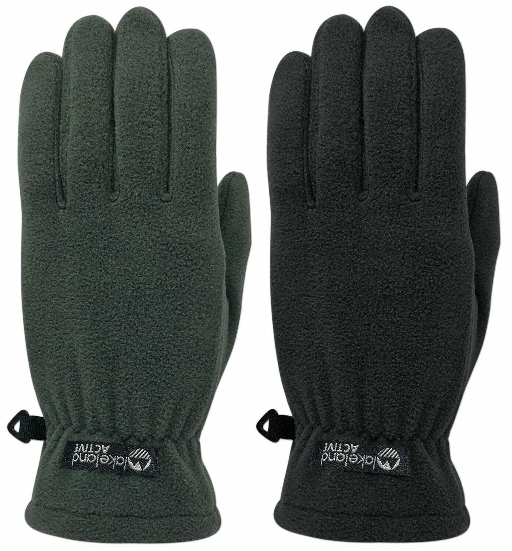 Lakeland Active Men's Everyday Fleece Gloves Warm Thermal Winter Black or Grey