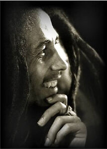 "Bob Marley Eyes Closed Black /& White Canvas Print Art Poster Wall Decor 8/""x10/"""
