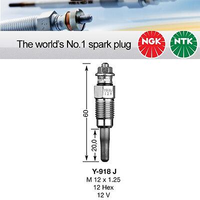 3704 Sheathed Glow Plug Genuine NGK Component Y918J NGK Y-918J