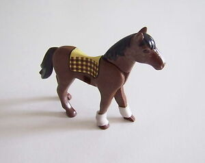 ... PLAYMOBIL T3143 EQUESTRE Cheval D 039 Equitation Marron