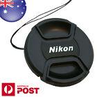 NIKON LENS CAP - 55mm Camera Snap-on Len Cap Cover with Cord - AUS POST 0044