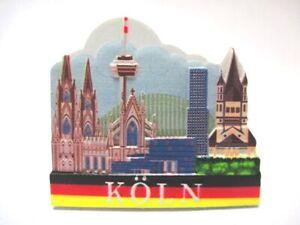 Cologne Dom Deutzer Pont 3d Poly Frigo Aimant Souvenir Germany (110)-afficher Le Titre D'origine