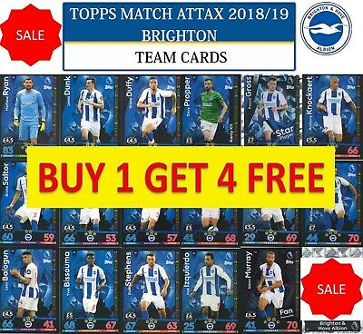 Match Attax 18//19 José Izquierdo Brighton /& Hove Albion Base Carte No 53