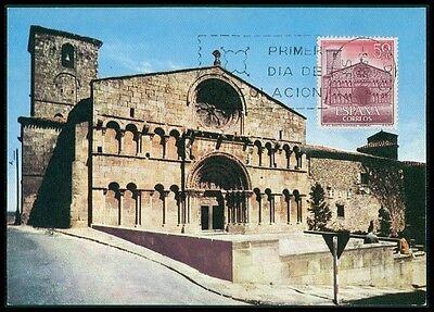 Briefmarken Domingo Church Kirche Carte Maximum Card Mc Cm Bh74 Hitze Und Durst Lindern. Kraftvoll Spain Mk 1966 Soria St