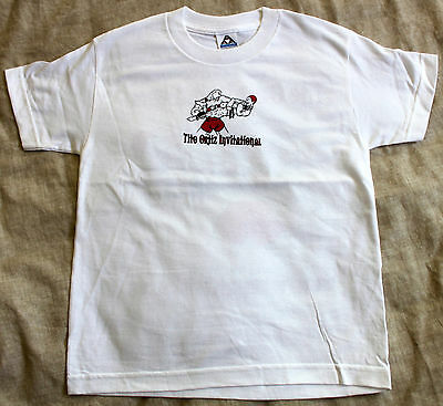 Youth Boys Medium White T-Shirt MMA Jiu Jitsu Wrestling Tournament Tito Ortiz